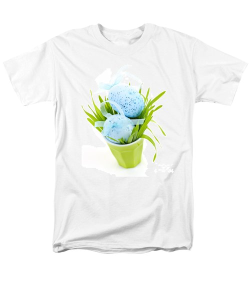 Blue Easter eggs and green grass T-Shirt by Elena Elisseeva