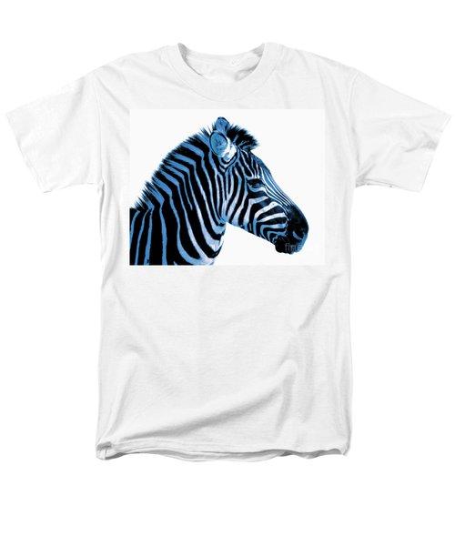 Blue zebra art T-Shirt by Rebecca Margraf