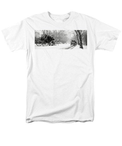Central Park In Falling Snow T-Shirt by Axiom Photographic