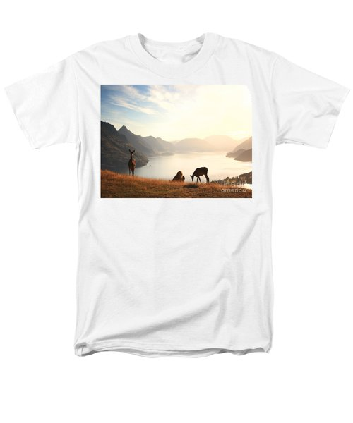 Deer at sunset T-Shirt by Pixel  Chimp