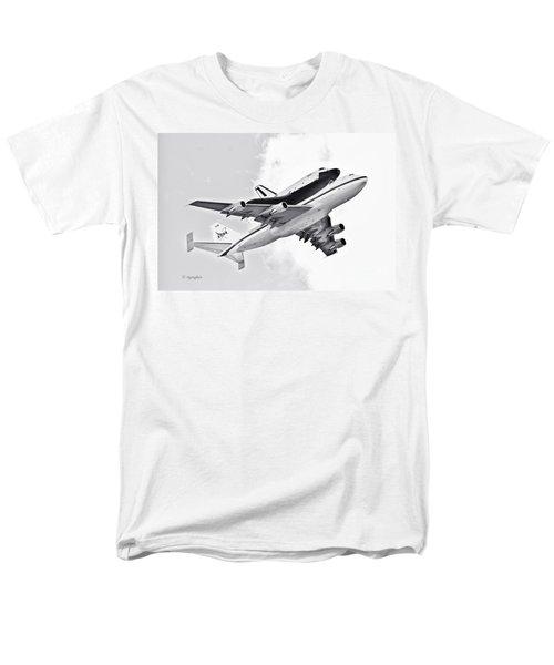 Enterprise Shuttle Piggyback Ride T-Shirt by Regina Geoghan
