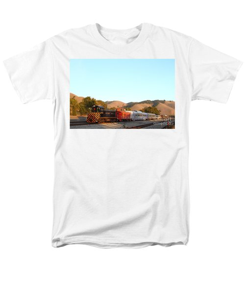 Historic Niles Trains in California . Old Southern Pacific Locomotive and Sante Fe Caboose . 7D10869 T-Shirt by Wingsdomain Art and Photography