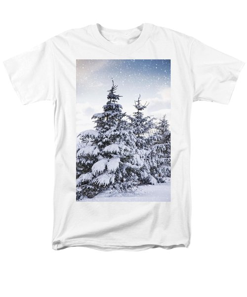 Northumberland, England Snow-covered T-Shirt by John Short