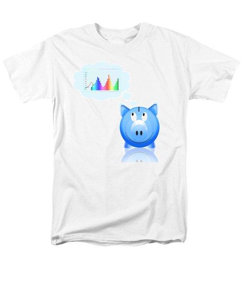 piggy bank with graph T-Shirt by Setsiri Silapasuwanchai