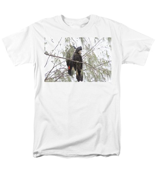 Red Tailed Black Cockatoos Men's T-Shirt  (Regular Fit) by Douglas Barnard