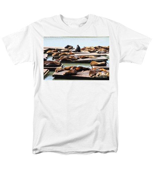 Sea Lions At Pier 39 San Francisco California . 7D14316 T-Shirt by Wingsdomain Art and Photography