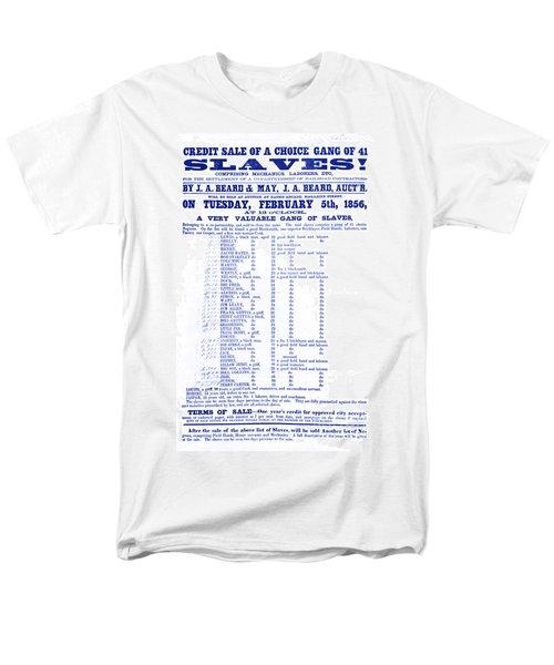 Slave Auction Notice T-Shirt by Photo Researchers, Inc.