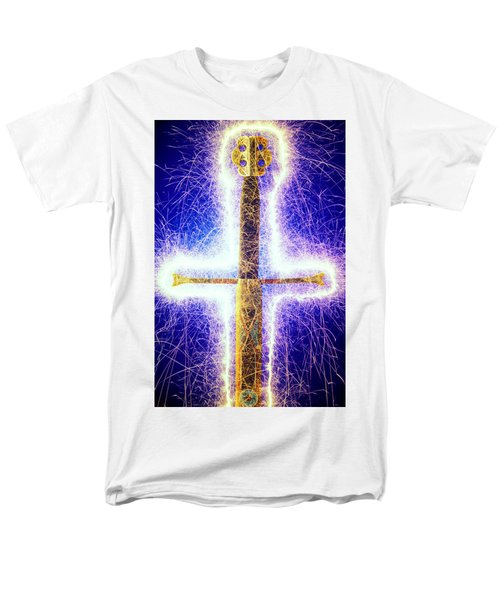 Sword with sparks T-Shirt by Garry Gay
