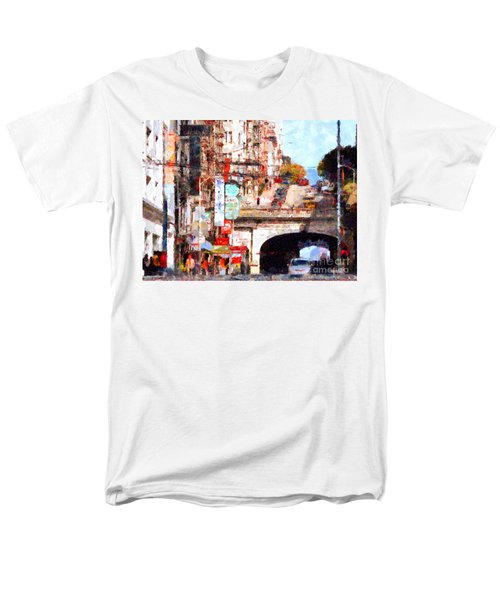 The San Francisco Stockton Street Tunnel . 7D7355 T-Shirt by Wingsdomain Art and Photography