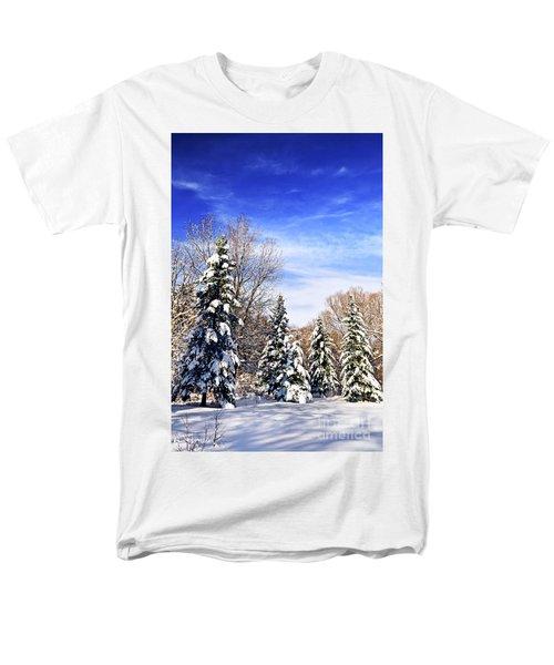 Winter forest under snow T-Shirt by Elena Elisseeva