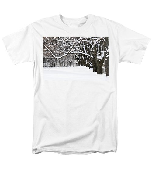 Winter park with snow covered trees T-Shirt by Elena Elisseeva