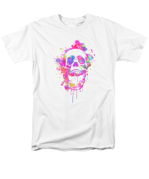 Cool And Trendy Pink Watercolor Skull Men's T-Shirt  (Regular Fit) by Philipp Rietz