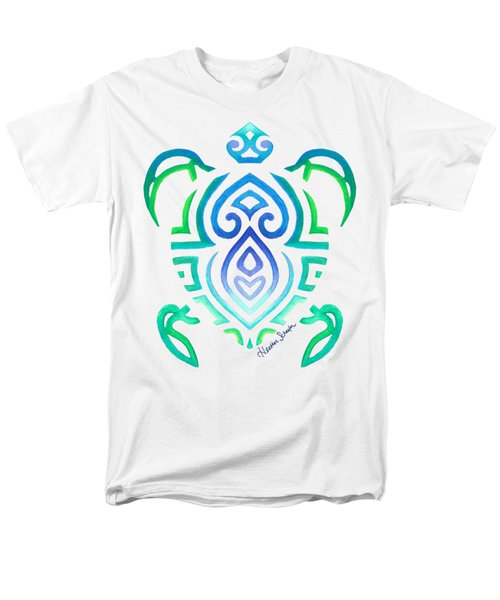 Tribal Turtle Men's T-Shirt  (Regular Fit) by Heather Schaefer