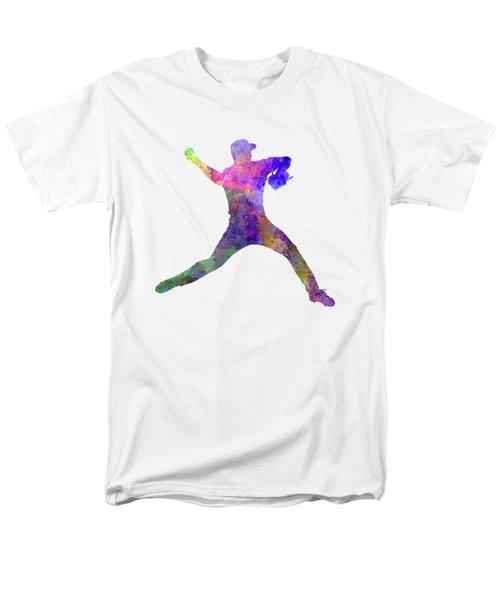 Baseball Player Throwing A Ball Men's T-Shirt  (Regular Fit) by Pablo Romero