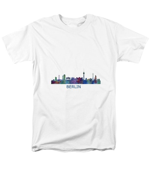 Berlin City Skyline Hq 1 Men's T-Shirt  (Regular Fit) by HQ Photo