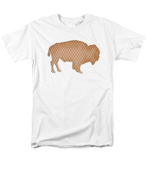 Bison Men's T-Shirt  (Regular Fit) by Mordax Furittus