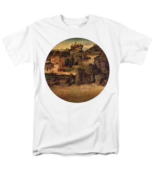 Landscape With Castles Men's T-Shirt  (Regular Fit) by Bartolomeo Montagna