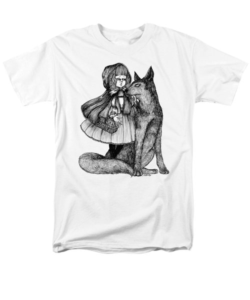 Little Red Riding Hood Men's T-Shirt  (Regular Fit) by Akiko Okabe
