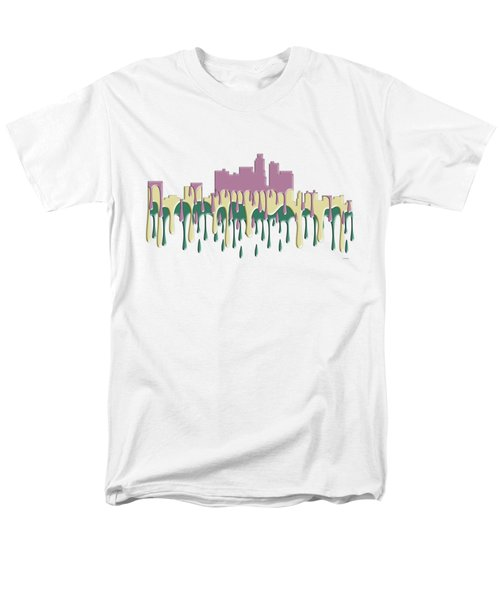 Los Angeles Ca Skyline Men's T-Shirt  (Regular Fit) by Marlene Watson