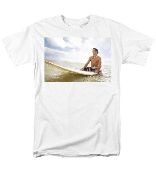 Male Surfer T-Shirt by Brandon Tabiolo - Printscapes