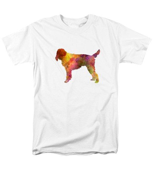 Medium Griffon Vendeen In Watercolor Men's T-Shirt  (Regular Fit) by Pablo Romero
