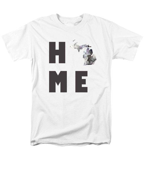 Michigan State Map Men's T-Shirt  (Regular Fit) by Marlene Watson