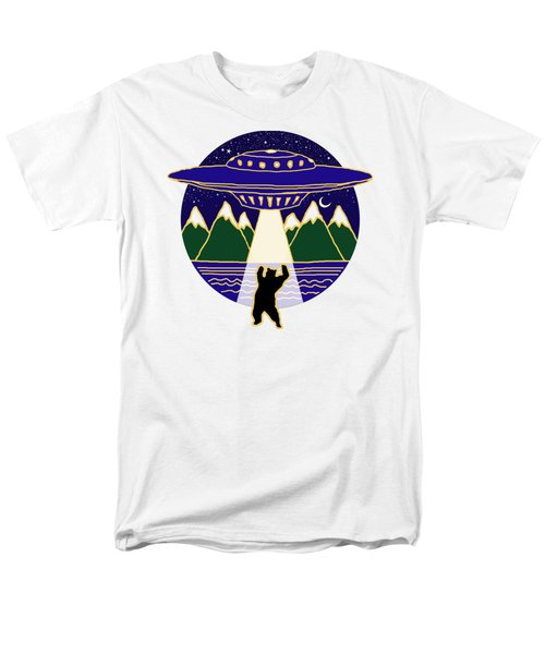 Mothership Takes Bear Men's T-Shirt  (Regular Fit) by Holly Douglas