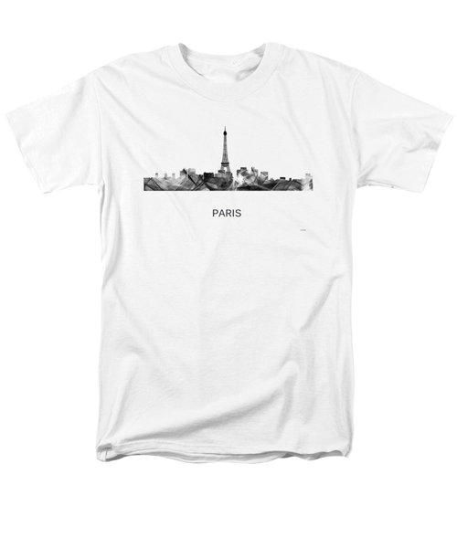 Paris France Skyline Men's T-Shirt  (Regular Fit) by Marlene Watson
