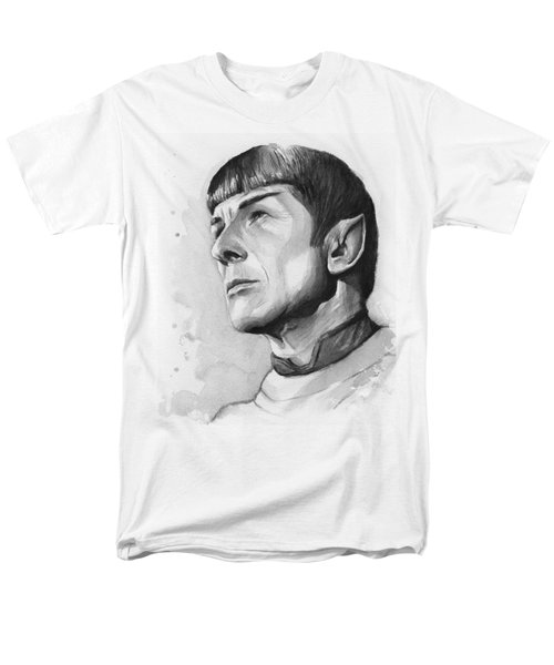 Spock Portrait Men's T-Shirt  (Regular Fit) by Olga Shvartsur