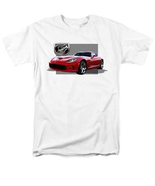 S R T  Viper With  3 D  Badge  Men's T-Shirt  (Regular Fit) by Serge Averbukh