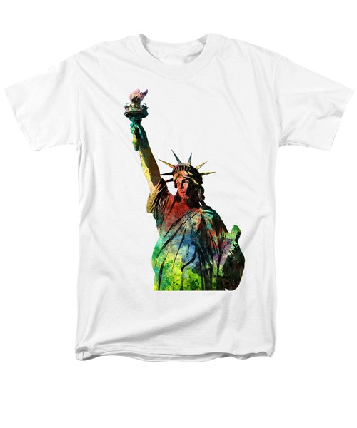 Statue Of Liberty Men's T-Shirt  (Regular Fit) by Marlene Watson