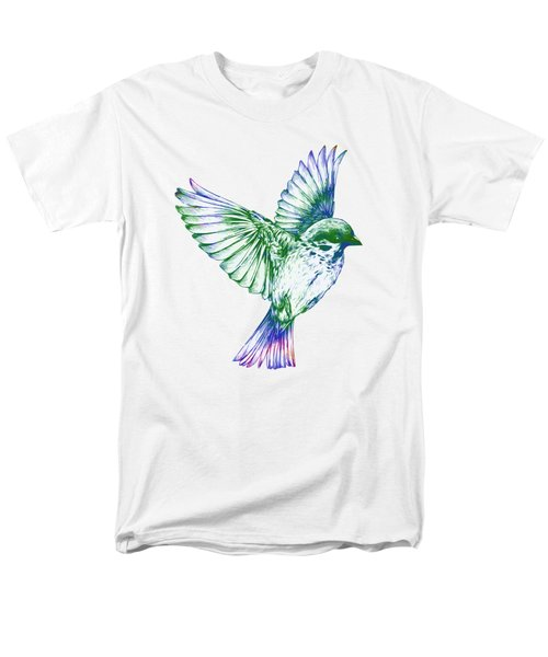 Textured Bird With Changeable Background Color Men's T-Shirt  (Regular Fit) by Sebastien Coell
