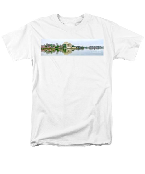 Tidal Basin With Cherry Blossoms Men's T-Shirt  (Regular Fit) by Jack Schultz