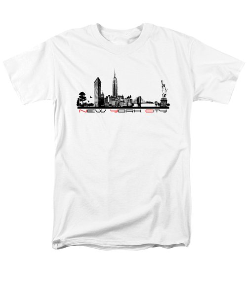New York City Skyline  Men's T-Shirt  (Regular Fit) by Justyna JBJart