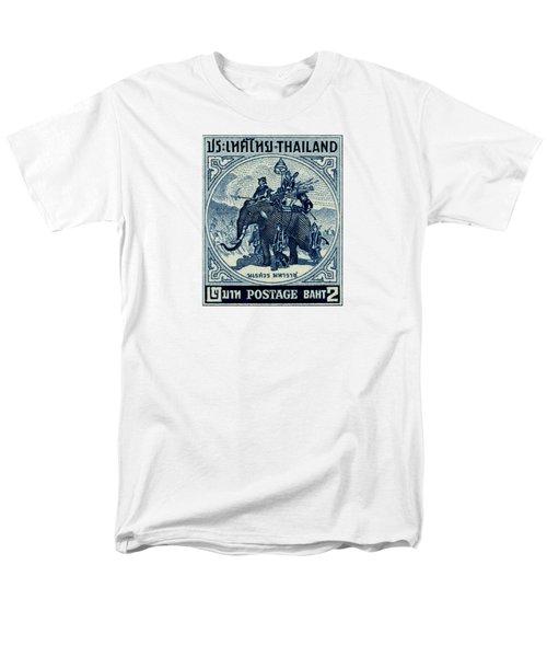 1955 Thailand War Elephant Stamp Men's T-Shirt  (Regular Fit) by Historic Image