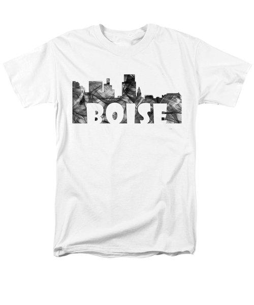 Boise Idaho Skyline Men's T-Shirt  (Regular Fit) by Marlene Watson