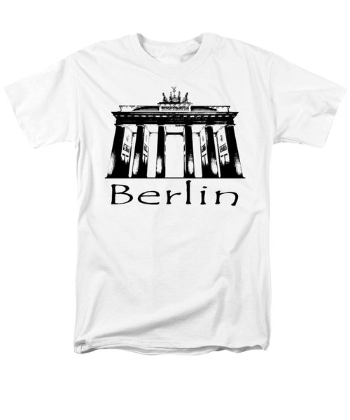 Brandenburg Gate Men's T-Shirt  (Regular Fit) by Julie Woodhouse