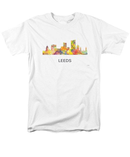 Leeds England Skyline Men's T-Shirt  (Regular Fit) by Marlene Watson