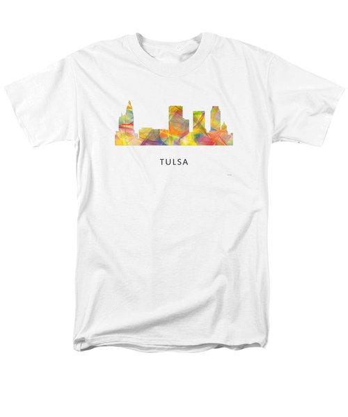 Tulsa Oklahoma Skyline Men's T-Shirt  (Regular Fit) by Marlene Watson