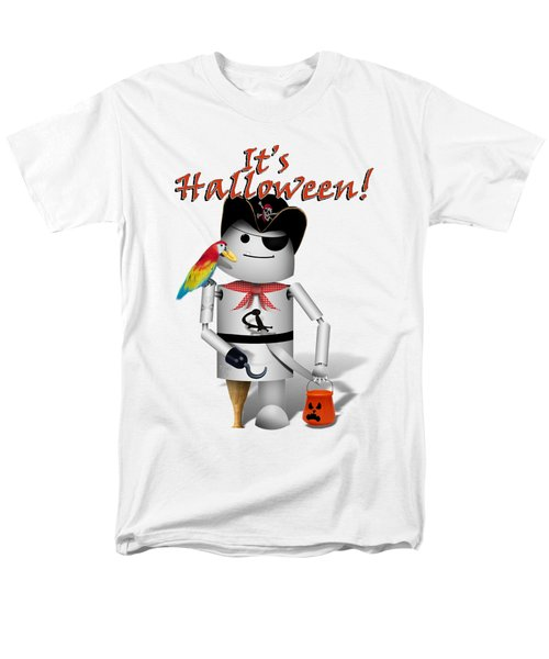 Trick Or Treat Time For Robo-x9 Men's T-Shirt  (Regular Fit) by Gravityx9 Designs