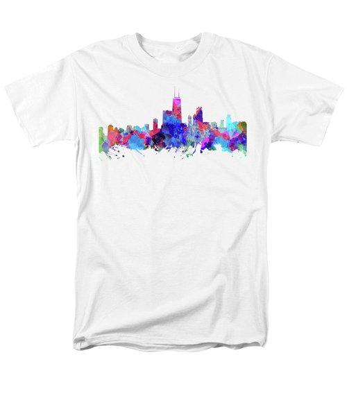 Chicago  Men's T-Shirt  (Regular Fit) by JW Digital Art
