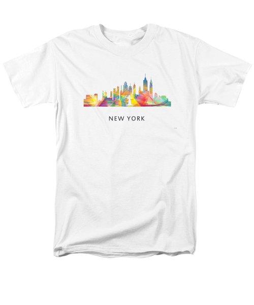 New York Skyline Men's T-Shirt  (Regular Fit) by Marlene Watson