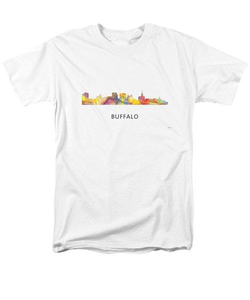 Buffalo New York Skyline Men's T-Shirt  (Regular Fit) by Marlene Watson
