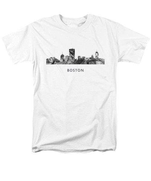 Boston Massachusetts Skyline Men's T-Shirt  (Regular Fit) by Marlene Watson