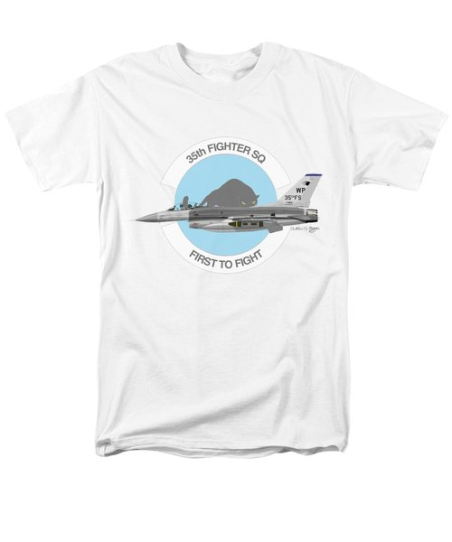Lockheed Martin F-16c Viper Men's T-Shirt  (Regular Fit) by Arthur Eggers
