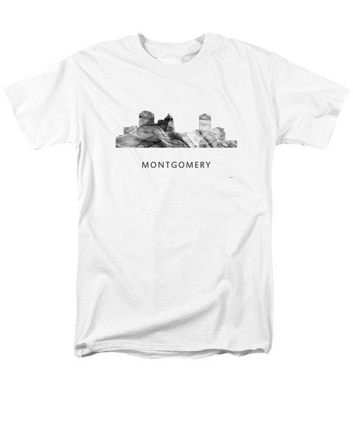 Montgomery Alabama Skyline Men's T-Shirt  (Regular Fit) by Marlene Watson