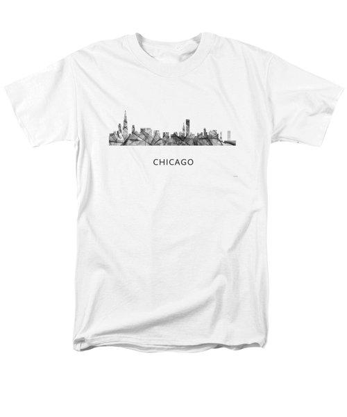 Chicago Illinois Skyline Men's T-Shirt  (Regular Fit) by Marlene Watson