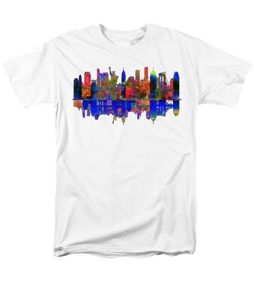 New York Men's T-Shirt  (Regular Fit) by John Groves