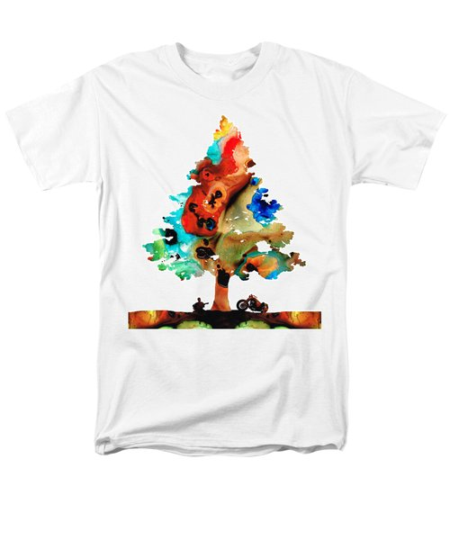 A Certain Kind Of Freedom - Guitar Motorcycle Art Print T-Shirt by Sharon Cummings