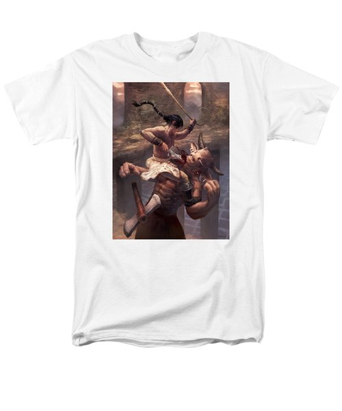 Above The Labyrinth  Men's T-Shirt  (Regular Fit) by Ethan Harris